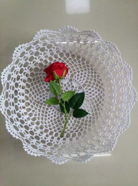 broche lace basket (2) - Baby photography props